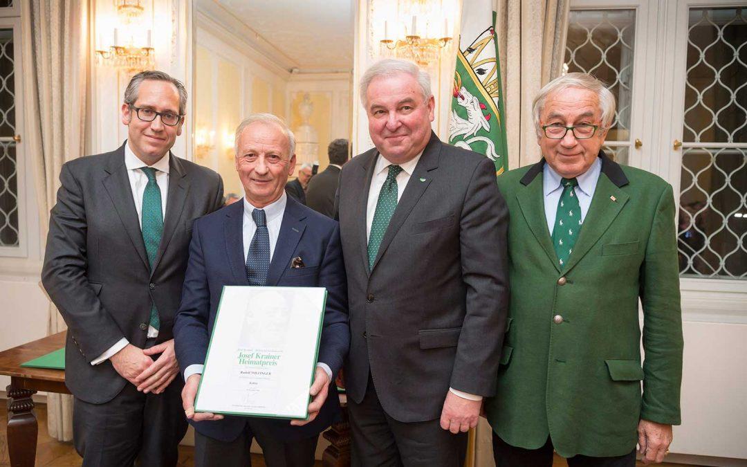 Große Auszeichnung für Rudolf Wilfinger